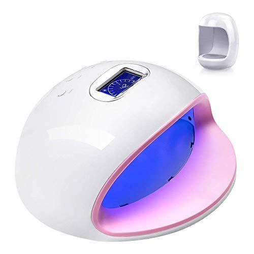 Power Banks LED-nagellak-lamp, 72 W, UV, sneller, automatische nageldroger, 4 timers, voor digitale weergave van de nagels