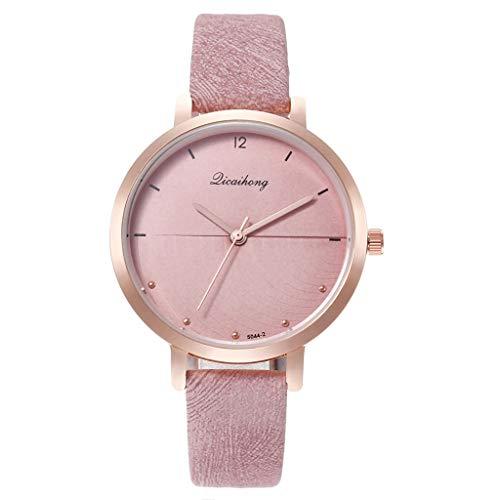 Uhr Armbanduhren Männer Damenuhren Hansee Neue Damen Persönlichkeit Sonic Dial Luxuriös Analog Quarz Mit Leder Armband Uhren Wrist Watches(Lila)