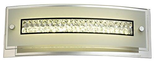 ESTO Lighting 745010 A+, Wandleuchte, Glas, 10 W, Klar/Weiß/Schwarz/Grau, 11 x 31 x 7.5 cm