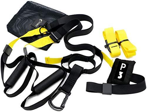 FSSSP3XG Suspension Strap Fitness Training System | Allenamento Funzionale, Plank, Esercizi in Sospensione Palestra | Trainer Band Cinghie | Yoga Gym Door Band | Bande Ancoraggio Porta