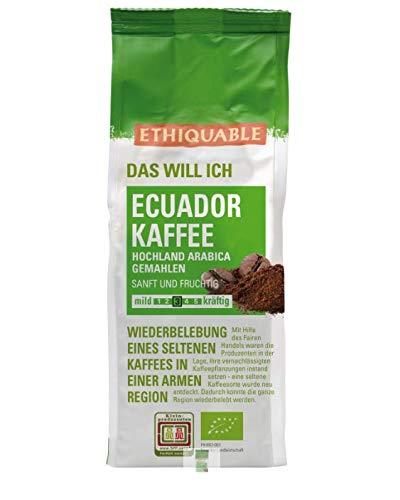 ETHIQUABLE Bio Fairer Kaffee aus Ecuador (gemahlen), 6 x 250g