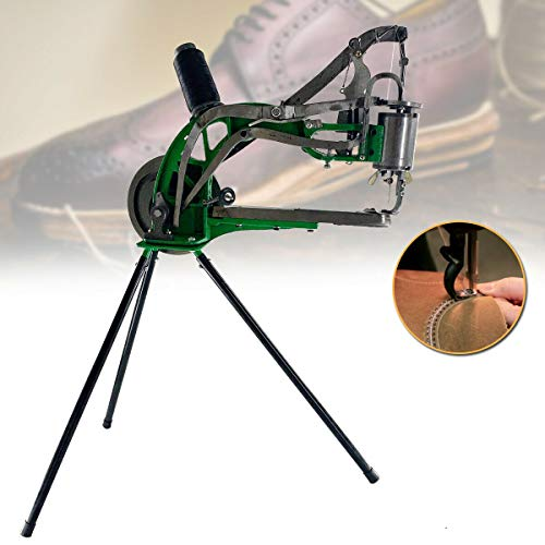 Cozyel Shoe Repair Machine Hand Machine Cobbler Sewing Leather Stitching Machine Shoe Patcher for Manual Sewing Dual Cotton Nylon Line Sewing Machine