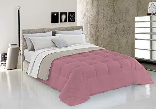 Italian Bed Linen Piumino Invernale, Rosa/Beige, 2 Posti, 250 x 200 cm