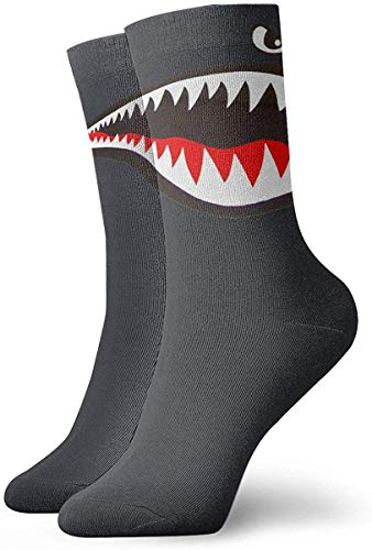 LeCoid Calzini Sportivi a Compressione,Tiger Shark Mens Womens Socks Ankle Low Cut Funny Socks For Men Women No Show