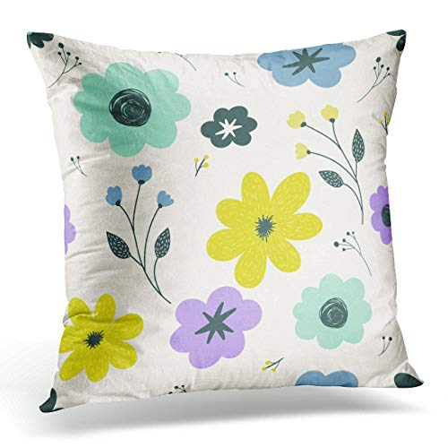 Funda de almohada decorativa colorida abstracta moderna con flores pastel y diseño de pared, color rosa, otoñal, funda de almohada cuadrada para decoración del hogar, 45,7 x 45,7 cm