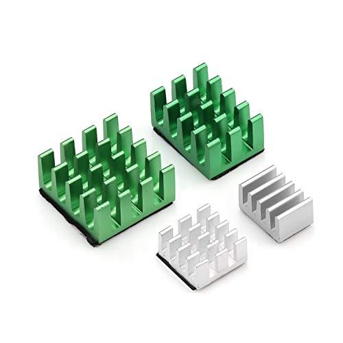 Aukru 4set Kühlkörper Heatsinks Kühlung für Raspberry Pi 4 Model B