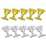 Tomaibaby Globos de Trofeo de Plata de Oro de 10 Piezas 14. ¡1X19! 6 Pulgadas de Papel de Aluminio Globos de Helio Suministros de Fiesta de Graduación 2021 Globos de Graduación 2021 para La