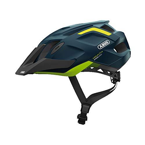 ABUS MountK Mountainbikehelm - Einstiegs-Fahrradhelm für den Geländeeinsatz - für Damen und Herren - 78182 - Blau/Gelb, Größe L