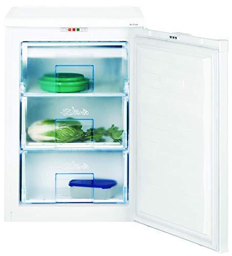 Beko FNE 1072 Congelador mini, bajo encimera, 90 litros, Acero, Blanco