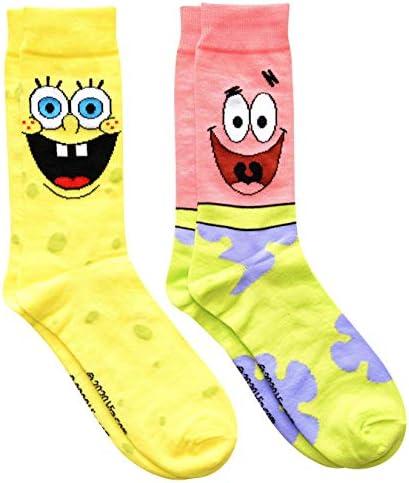 Hyp Spongebob Squarepants and Patrick Men s Crew Socks 2 Pair Pack product image