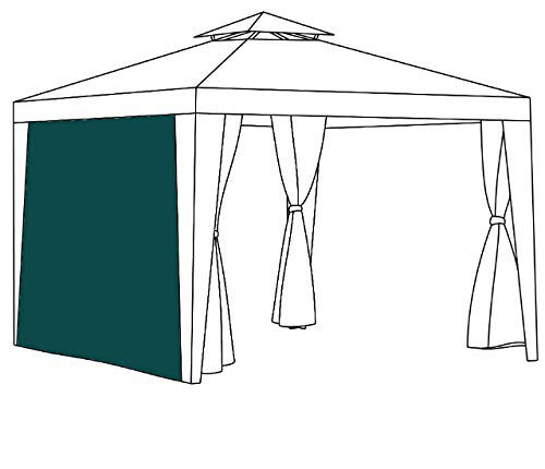 Gardenista Replacement Gazebo Curtain 2 Metre | Outdoor Summer furniture | Water Resistant | Great for Sun Shade | Durable & High Quality (Curtain, Green)