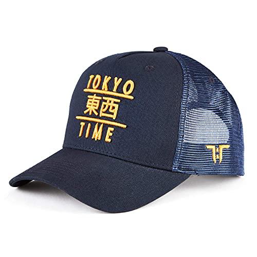 Tokyo Time Heritage Gorra de béisbol – Gorra de béisbol para adultos 100% algodón para hombres y mujeres – Gorras de diseño único – inspiradas en el este, desarrolladas en el oeste