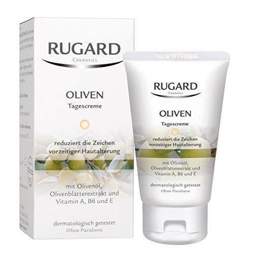 RUGARD Oliven Tagescreme: Gesichtspflege mit Inhaltsstoffen aus der Olive und Rosenblüte sowie Vitamin A, B6 und E, 50ml
