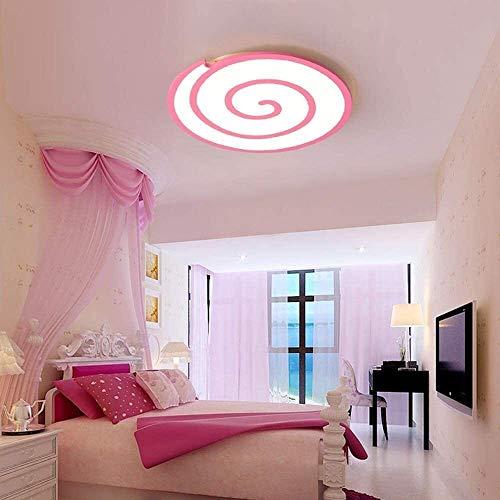 Palm kloset Lámpara de Techo de acrílico Rosa Lollipop Cartoon Chandelier LED Habitación de los niños Dormitorio Niños Niñas Iluminación Pasillo Pintura Ambiental Luz Blanca
