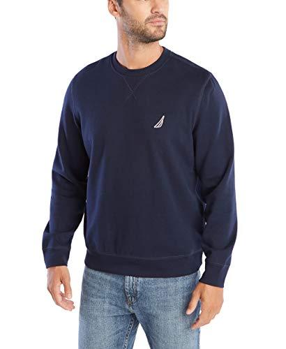 Nautica Men's Basic Crew Neck Fleece Sweatshirt, Navy, Large