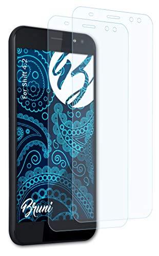 Bruni Schutzfolie kompatibel mit Shift 4.2 Folie, glasklare Bildschirmschutzfolie (2X)