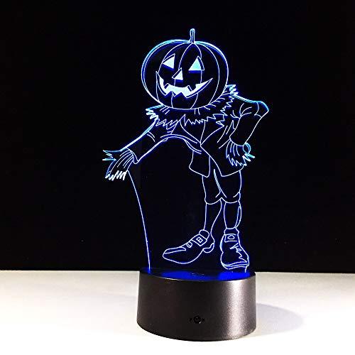 Effekt Kürbis Mann Hologramm Farbwechsel Nachtlichter Nachtlicht Tisch Halloween Weihnachten Neujahr Lichter