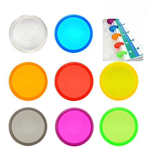 48 Pieces Plastic Mini Discs Multicolor Binding Ring Discs Expansion Discs for Add Extra Pages Notes or Artwork