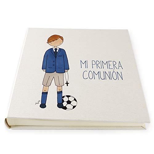 Album de Fotos Comunión para Niños y Niñas | Libro para pegar fotos con distintos diseños | 30 x 30 cm | Recuerdo de comunión