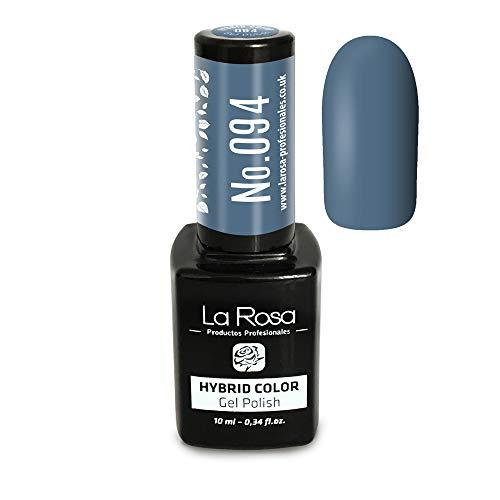 La Rosa UV LED Vernis hybride Semi-permanent gel N°094 - bleu avec une touche délicate de gris