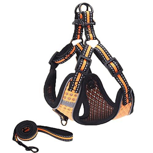 FDSH Pecho Ligero para Perros Espalda Transpirable con arnés de Perro Cuerda de tracción (Size : L)