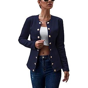 Tomwell Damen Blazer Langarm Cardigan Elegant Bolero Business Jacke Blazer Slim Fit Anzug Sakko Kurz Mantel