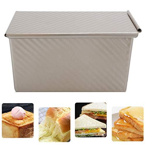 Caja de pan, aleación de aluminio 7.7 x 4.5 x 3.9in para hornear pan para hornear pan