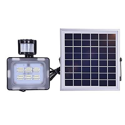 Viugreum 10W 20W 30W 50W Solar Powered Led Flood Light, IP65 Waterproof Auto-Induction Solar Flood Light Outdoor Security Flood Light Fixture