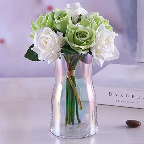 Hey_you Klarglas Vase, Ins Style Kristall dekorative Vase Blumenblume Pflanzenbehälter für Home Office Dekor, Geschenk für Hochzeit Einweihungsparty feiern