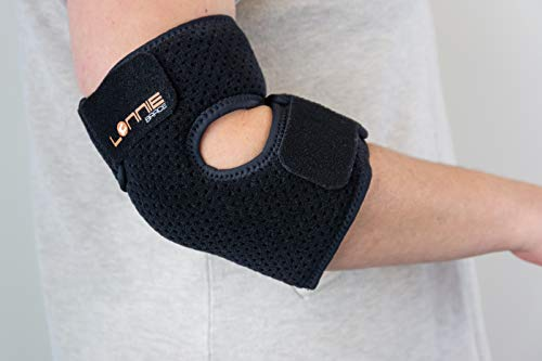 Lonnie Brace - Comfortable Elbow Brace for Tendonitis, Tennis Elbow, and Cubital Tunnel Syndrome for Men and Women
