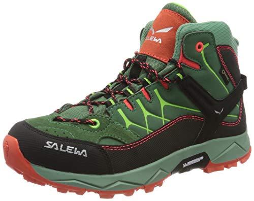 Salewa Unisex-Kinder JR Alp Trainer Mid Gore-Tex Trekking-& Wanderstiefel, Myrtle/Tender Shot, 32 EU