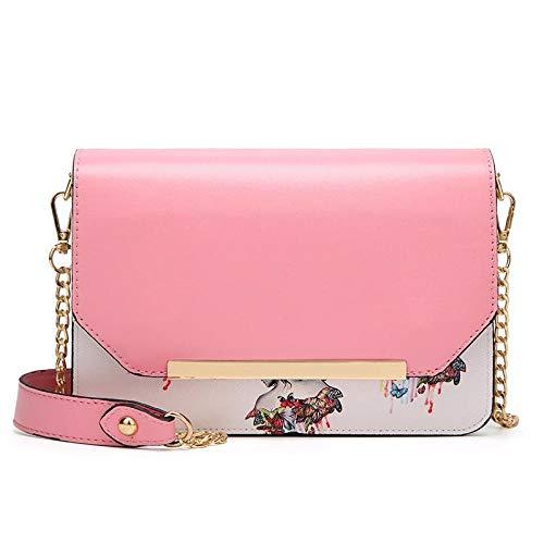 fdhdfh Women'S Printing Chain Small Handbag Messenger Shoulder Crossbody Bags 21.5 * 6 * 15Cm Pink