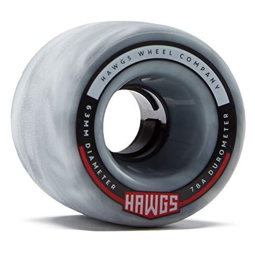 Landyachtz Hawgs Fatty Hawgs Longboard Wheels - 63mm 78a - Grey/White