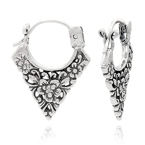 Shadi, étnico - Pendientes de plata oxidada artesanales (joyería de plata artesanal, bizantinos, borobudur - regalo - mujer - hombre - Navidad - Reyes - cumpleaños)
