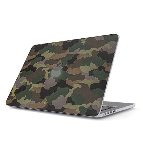 BURGA Custodia per MacBook PRO 13 Pollici Retina Hard Case Cover Modello: A1502 / A1425, 2012-2015 Militare Verde Camuffamento Green Camo Camouflage