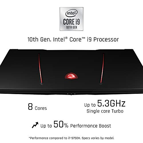 Compare MSI GE75 Raider 10SGS-222 (GE75222) vs other laptops