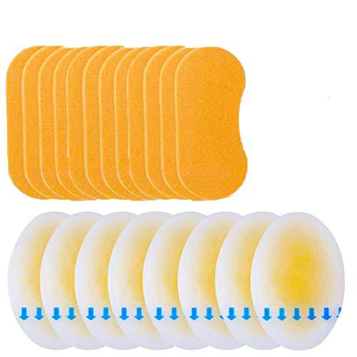 Mcvcoyh 24 Pcs Gel-Schutz Blasenpflaster + Schaum Blister Pads Pflaster in verschiedenen Größen – gegen Blasen an Fersen, Zehen und für kleine Blasen