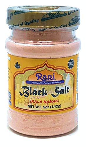 Rani Brand Authentic Indian Products Black Salt (Kala Namak) Peso netto. 5 once (142g)