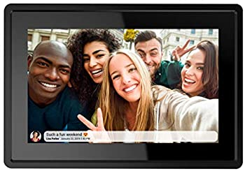 Feelcare 7 Inch 16GB Smart WiFi Digital Picture Frame Send Photos or Small Videos from Anywhere Touch Screen IPS LCD Panel Wall-Mountable Portrait and Landscape Black