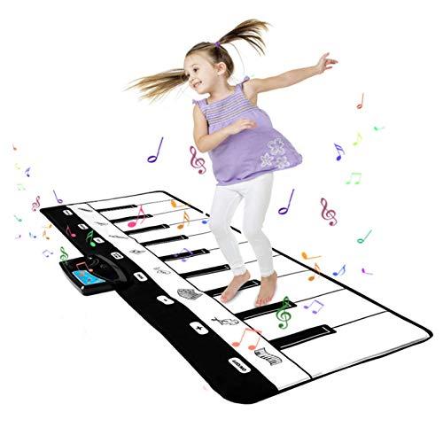 AAFF Piano Matte Kinder, Groß Tanzmatte Musikmatte Klaviermatte 8 Instrumentenklänge, Piano Mat Jungen Mädchen Kinder Geschenke, Klaviertastatur Matte (100 * 36Cm)