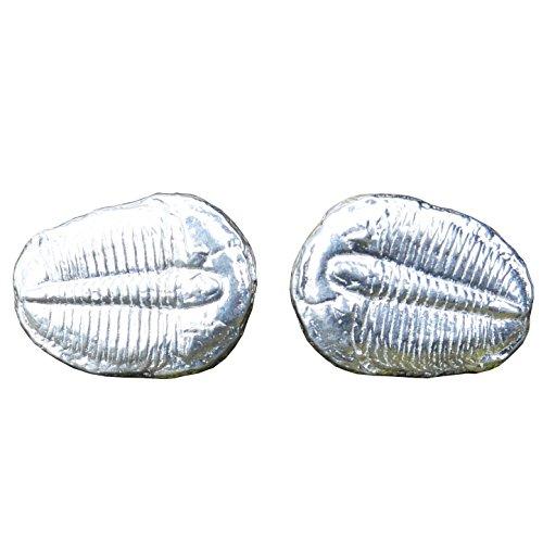 """Boutons de Manchette """"Trilobite"""" en Etain Fin - Fabrication Francaise"""