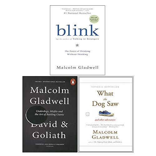 Malcolm Gladwell Collection 3 Books Set (Blink, David and Goliath, What the Dog Saw)