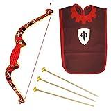 Txkkids Arco con frecce per bambini medievale in legno, gioco da 3 anni, accessorio costume per bambini.
