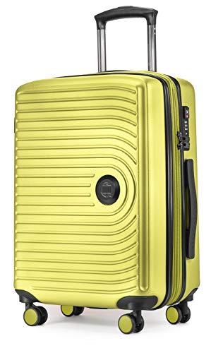 Hoofdstadkoffer midden – koffer met harde schaal, handbagage 55 x 40 x 20 licht, 4 wielen, reiskoffer rolkoffer handbagagekoffer bagage vliegbagage trolley koffer, uitbreidbaar, TSA, Farn