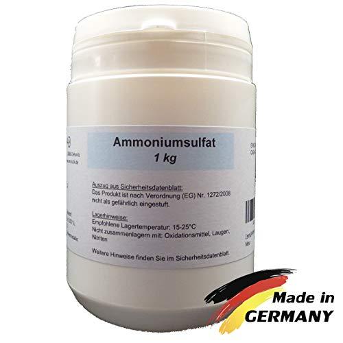 Centra24 Ammoniumsulfat 1 kg, min 99,0% Reinheit, di-Ammoniumsulfat, technische Qualität, Mascagnin, Pool, Düngerzusatz, E517, Labor, Garten, Beet, Experiment