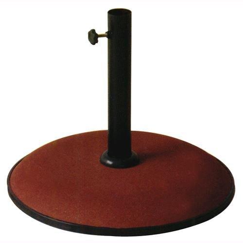Base In Cemento Per Ombrellone Kroma Tonda Colore Rosso 25 Kg.