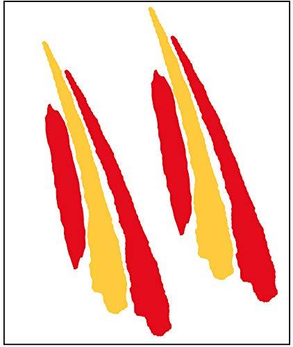 Aufkleber Fahnenschwingen verlängert Spanien, 2 Stück 90x25 mm/Stück.