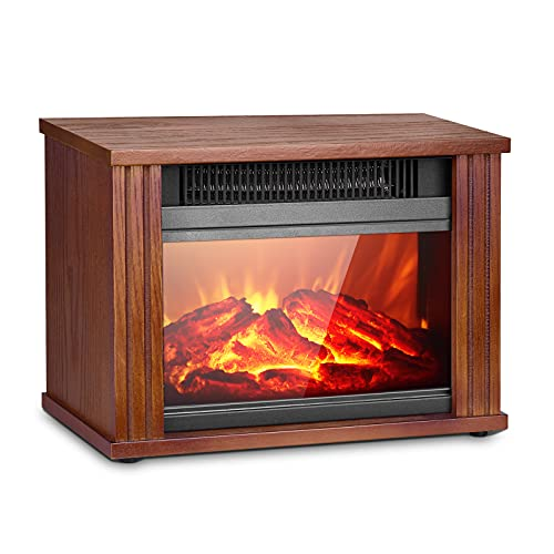 Air Choice Electric Fireplace Heater w/3D Flame Effect Only $77.99 (Retail $129.99)