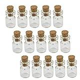 Ohomr Botella de Vidrio tapadas con Corcho 50PCS Mini Botellas del Deseo de DIY Botellas en Miniatura del Corcho Tapones los tarros de Cristal de 0,5 ml