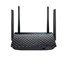 Asus ac1300 wifi router (rt-acrh13) - dual band gigabit wireless router, 4 gb ports, usb 3. 0 port, gaming & streaming… 1 dual band ac1300 with the latest 2x2 mu mimo technology for combined speeds of up to 1267 mbps 4 external 5dbi antennas for improved wi fi range and multi device performance; connected devices must be 802. 11ac compatible for best results monitor and manage your network with ease from your mobile device using the intuitive asus router app